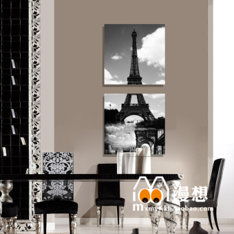 Modern Living Room Decorative Painting Wall Mural Paintings Entrance Hallway Frameless Two Linked Vertical