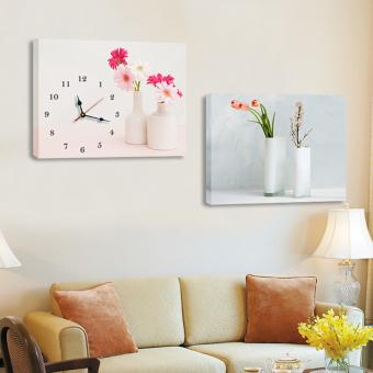 Modern Restaurant Living Room Frameless Painting Wall Clock Watch Part 58
