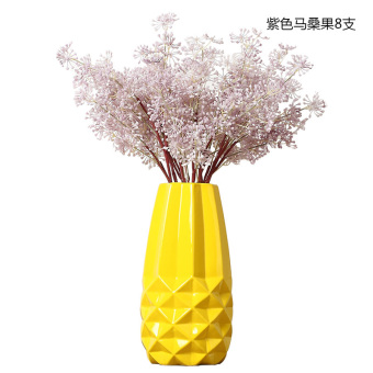 Modern simple yellow living room ceramic vase