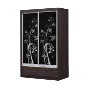 Harga MOORE Sliding Door Wardrobe
