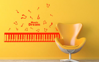 Musical Notes Piano Keys Music Dream Lolita Elements Living Room Bedroom Background Wall Decoration Ornaments