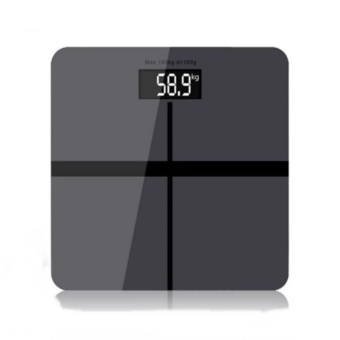 MUTILER Precision household weighing machine body weight loss measuring scale GREY - intl