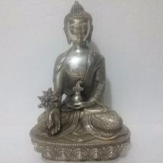 Nepal Tibetan Buddhist bronze Healing Medicine buddha statue - intl