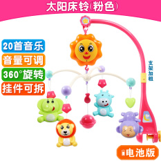 Newborn children baby bed Bell 0-1-year-old baby toys 3-6-12 a month music rotation bedside bell rattles bed hanging