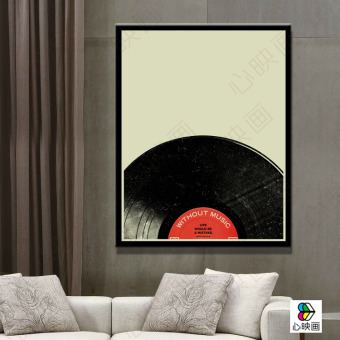 Nordic Creative Vinyl Cd Music Retro Paintings Modern Frameless Painting Decorative The Living Room Dining
