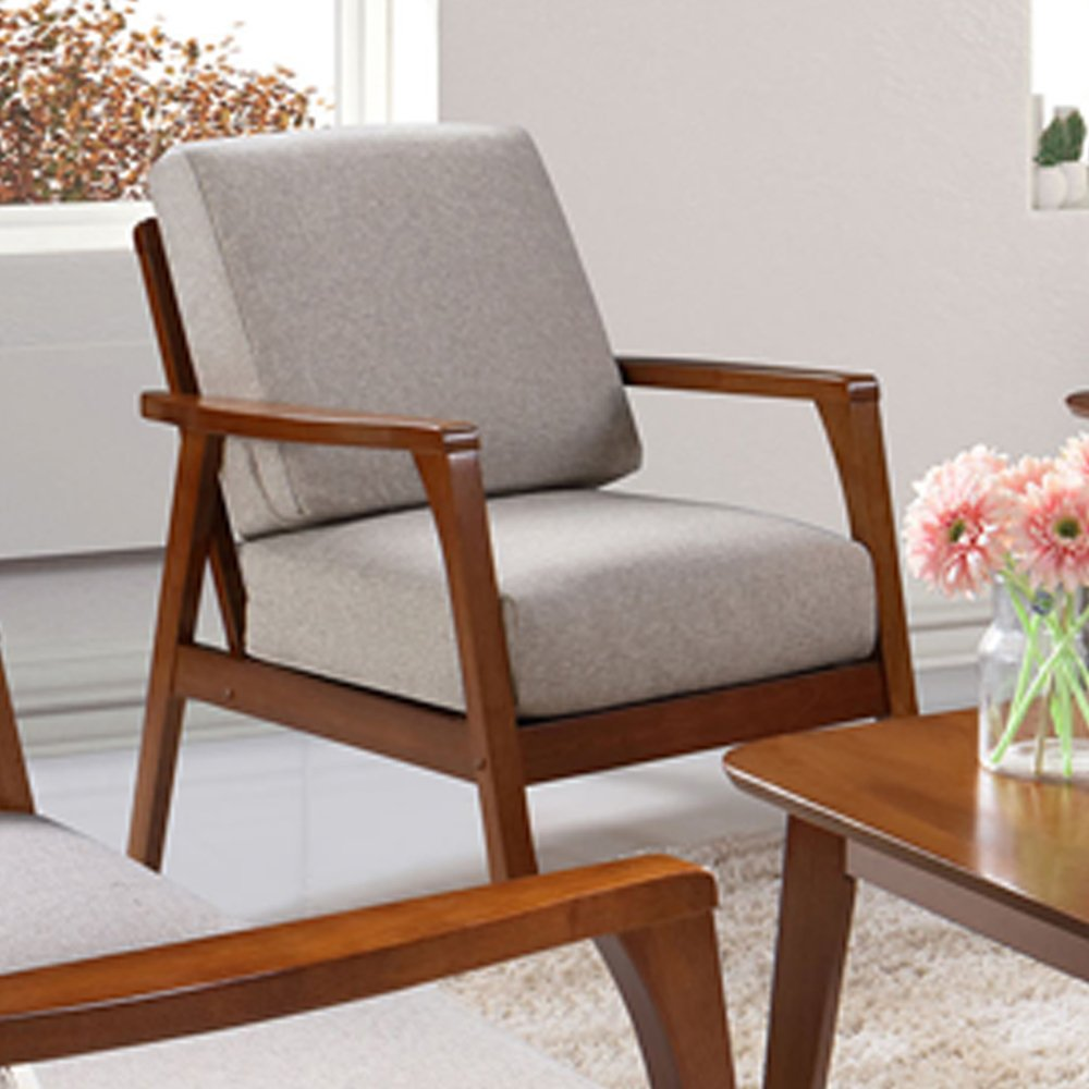 Wooden arm chair - Nova 338 1 Wooden Arm Chair With Cushions Free Delivery Lazada Singapore