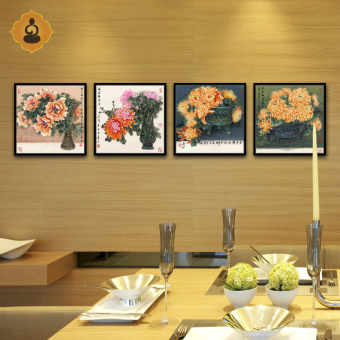Painting Flowers And Birds Painting Quadruple Painting Living Room  Restaurant Study Office Modern Decorative Painting Paintings Part 84