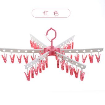 Plastic clip multi-clip clothes rack hanger