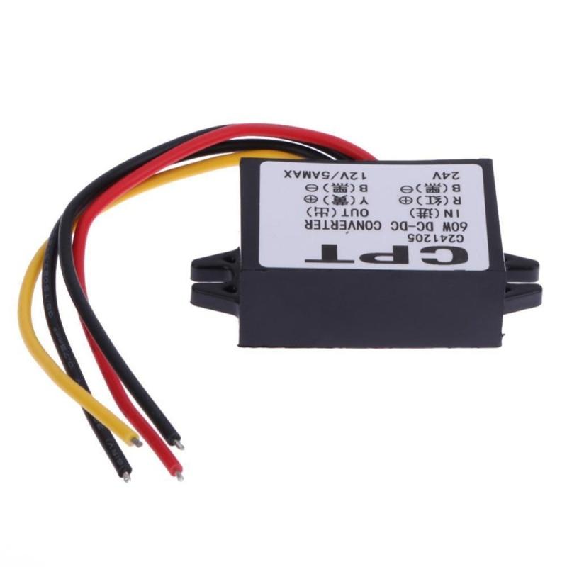 Portable Compact Industry Grade Converter Regulator Power 24V to 12V 5A - intl