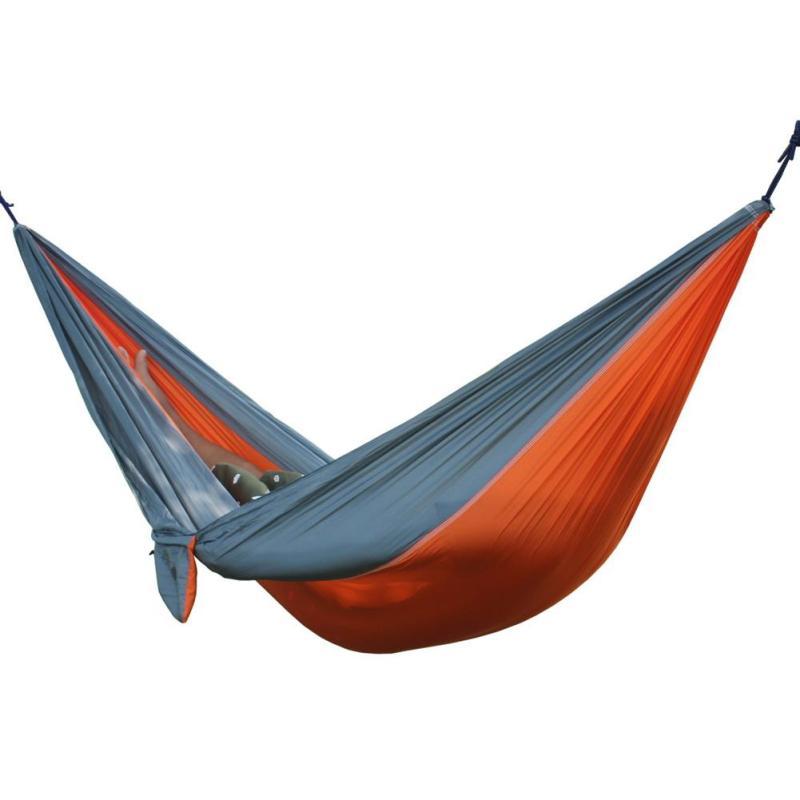 Portable Double Person Garden Leisure Hammock(Orange Gray) - intl