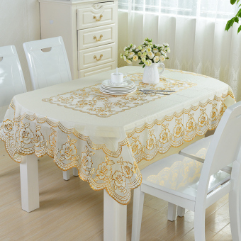 PVC Waterproof Heat Resistant Oil Resistant Plastic Tablecloth Table Cloth