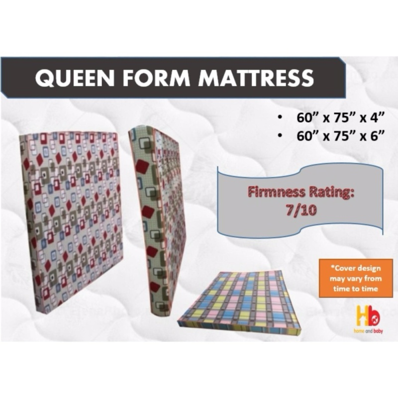 Queen Foam Mattress 60' x 75' 4'