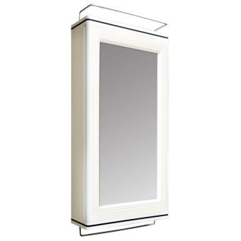 Bathroom Cabinets Singapore queen step bathroom cabinet with mirror - (white) | lazada singapore