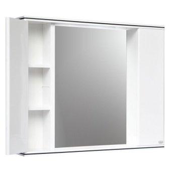 queen studio bathroom cabinet with mirror white