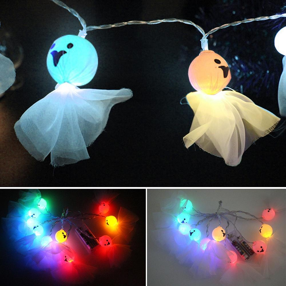 Quzhuo Halloween Decoration String Lights Ghost String Led Lights Fairy String Lights For