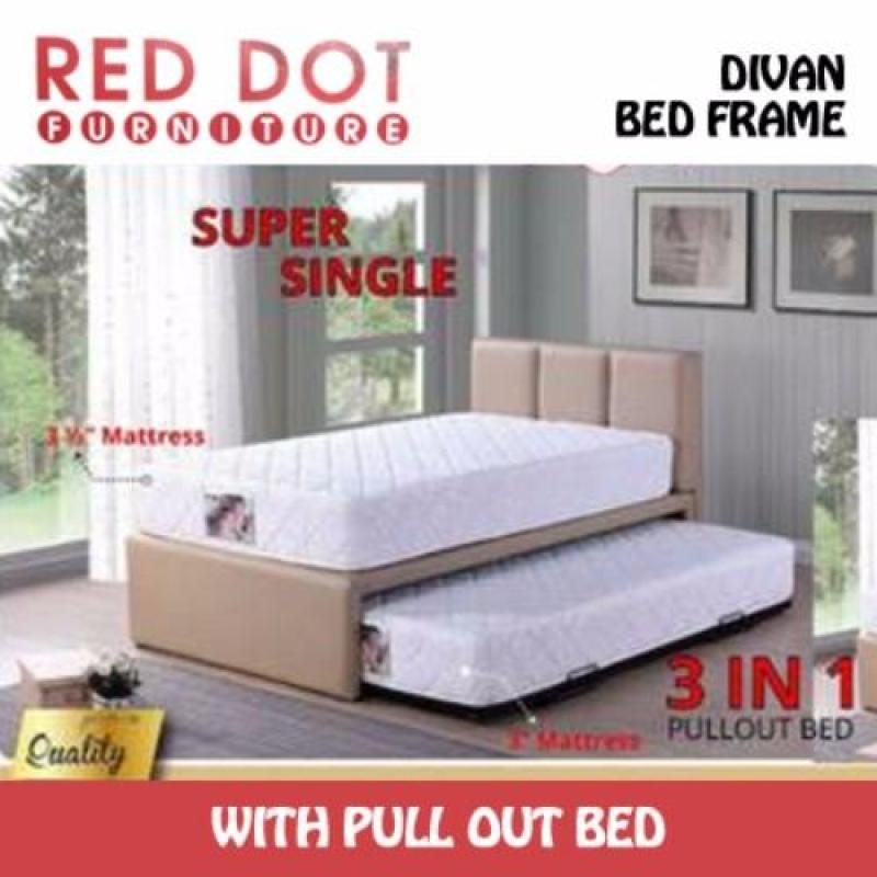 Red Dot Furniture Divan Bed Frame with 9 inch Spring Mattress
