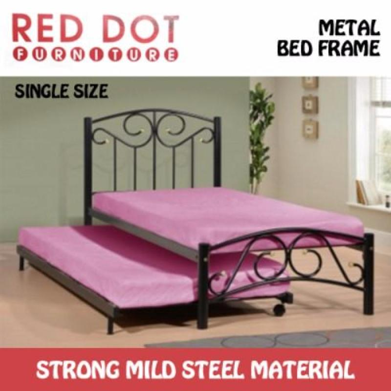 Red Dot Furniture Single Size Bed Frame (Without Mattress) w/ Pull-Out Bed