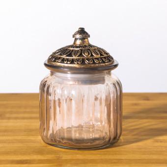 Retro dried fruit cookie sealed storage jar glass Sugar Bowl