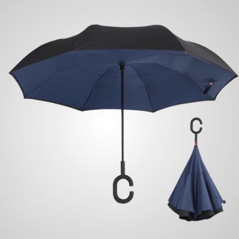 Reversible Umbrella Reverse Mini Waterproof Light Weight Foldable Folding C Shape Handle