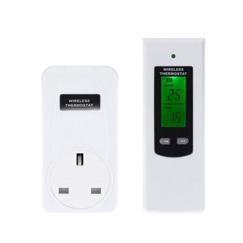 RF433Mhz Wireless Thermostat Plug LCD Remote Control Temperature Controller Plug - intl