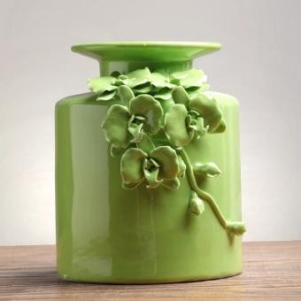 ROFI Handmade Pinch Flower Ceramic Table Vase Ornaments Modern Minimalist Living Room TV Cabinet Home Decorative