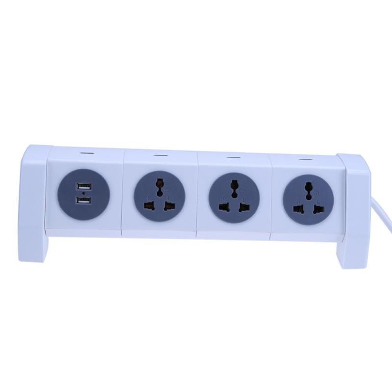 Rotating Multi-function Creative Socket Smart Power Strip Socket(Grey) - intl