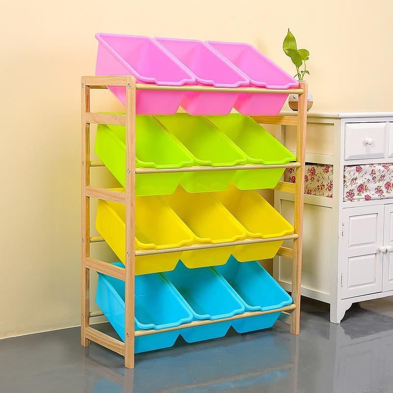 RuYiYu   64X 28 X 60cm, Kids Toy Organizer And Storage Bins, 12