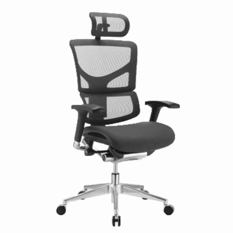 SAIL Luxury Ergonomic Office Chair (Black)(Installation Option Available) Singapore