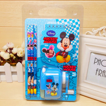 School prizes students New style stationery set kindergartenstationery gift pencil sharpener pencil pen machine suit