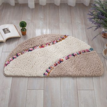 Semicircle mats toilet door absorbent foot step doormat bathroom bedroom bathroom door slip mats & Taobao door stepping mat door mat slip mat Popular door stepping ... Pezcame.Com