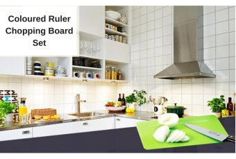 Shoppy 3 Coloured Chopping Board with Ruler - 3