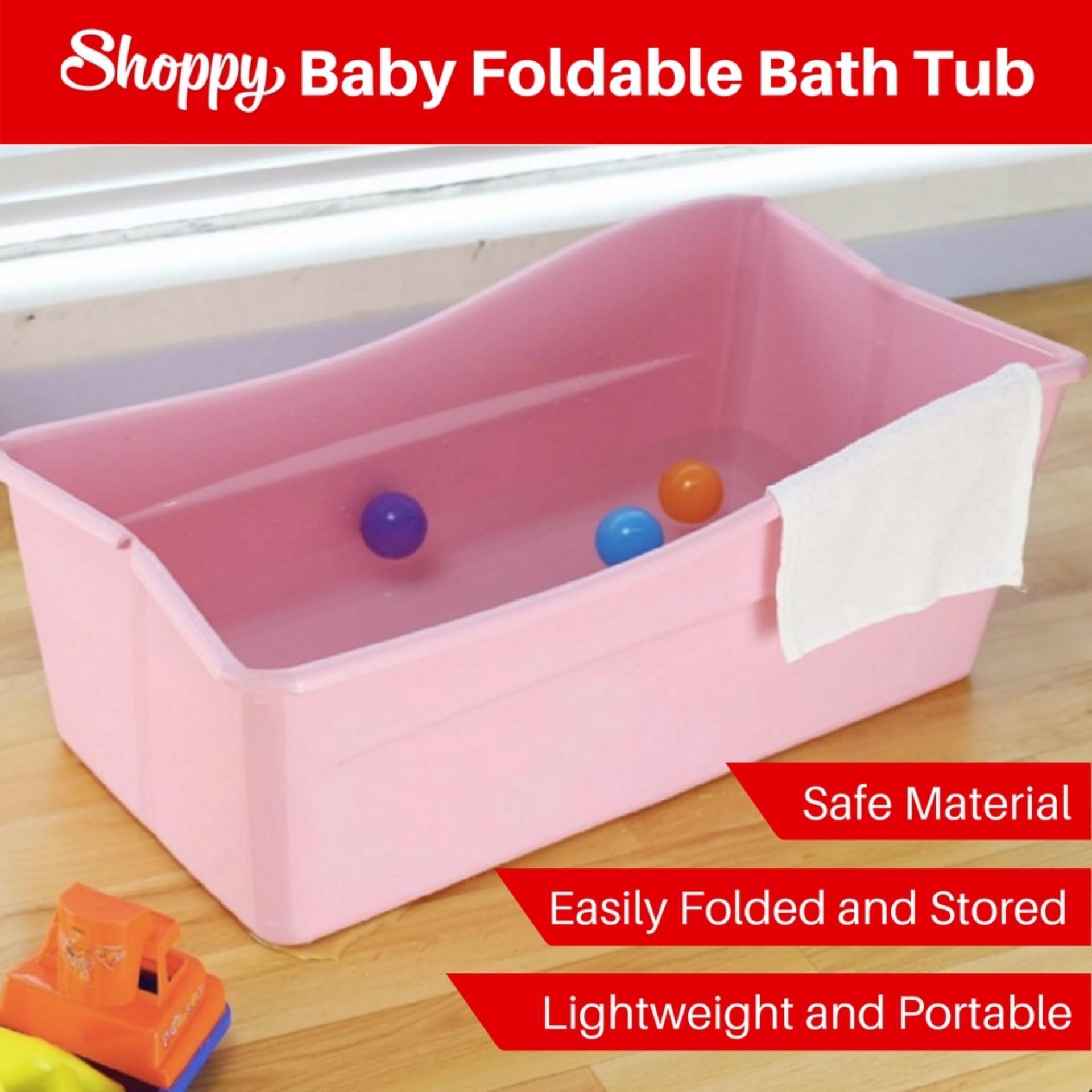 Shoppy Flexi Foldable Shower baby Bath Tub(Pink) Singapore