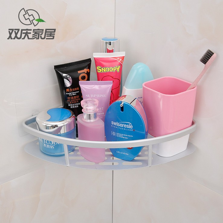 Shuangqing kitchen bathroom traceless stickers storage rack bathroom shelf