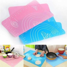 Silicone Pastry Baking Rolling Cut Mat Clay Fondant Ice Cake Dough Kitchen Tool - intl
