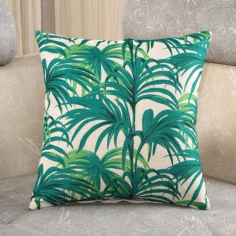 Simple Home Decor Leaf Pattern Pillow Case Sofa Cushion Cover45X45CM - intl