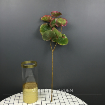 Simulation single branch Begonia leaf home plants living room  decorative plant wall green plant flower begonia grass Decoration