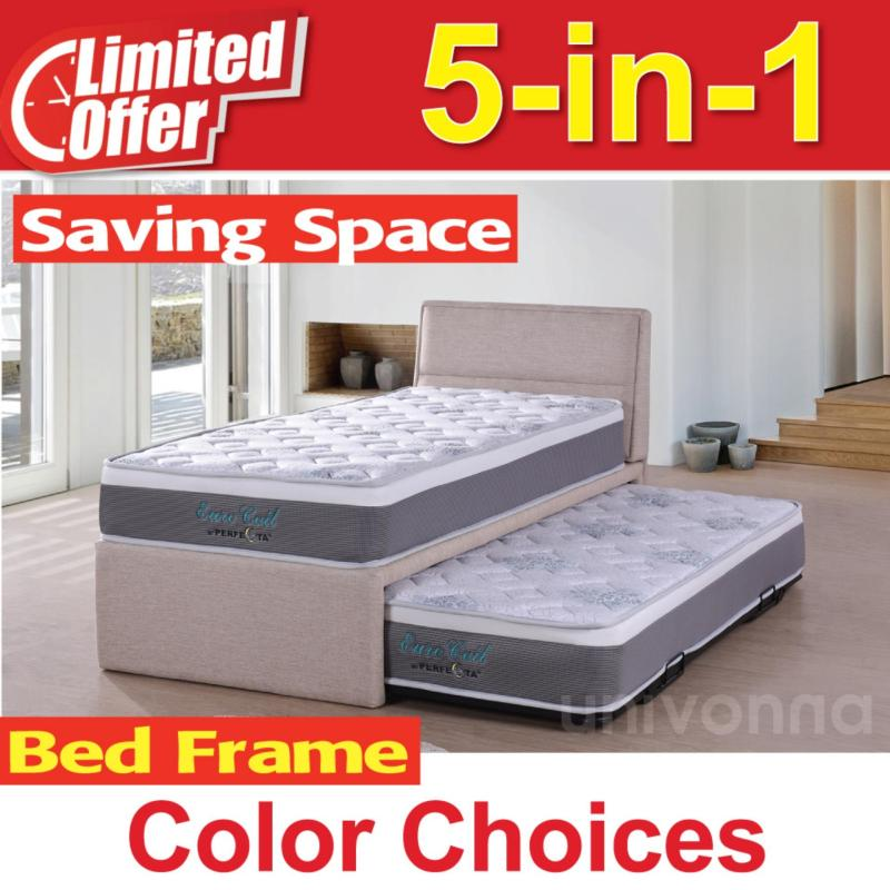 Single Pull Out Bed 5 in 1 with 9 inch Euro Coil mattress - Bunk Bed - Guest Bed - Fast Delivery