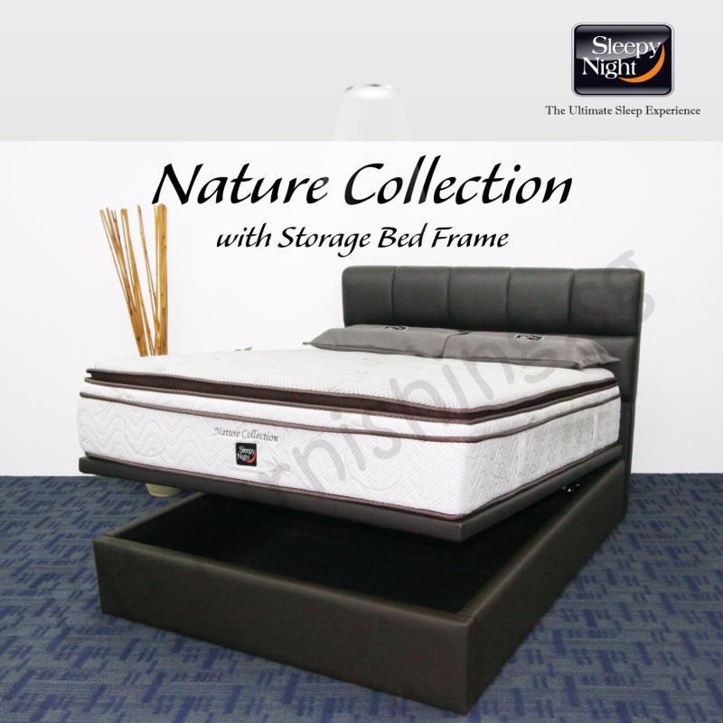 Sleepy Night (King) Nature Collection Mattress with Jean Storage Bedframe
