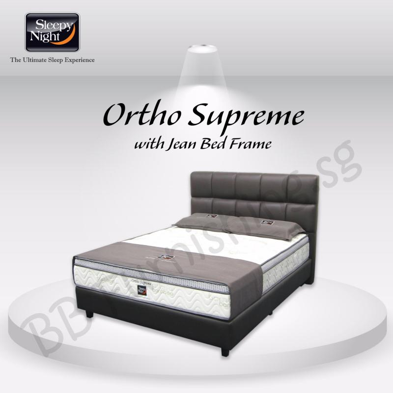 Sleepy Night (King) Ortho Supreme Mattress with Jean Bedframe