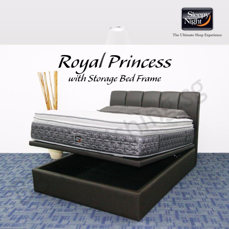 Sleepy Night (King) Royal Princess Mattress with Jacinta Storage Bedframe