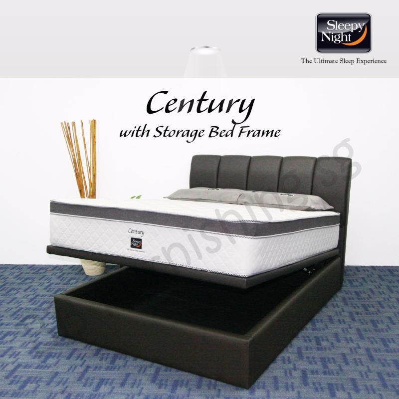 Sleepy Night (Queen) Century Mattress with Jacinta Storage Bedframe