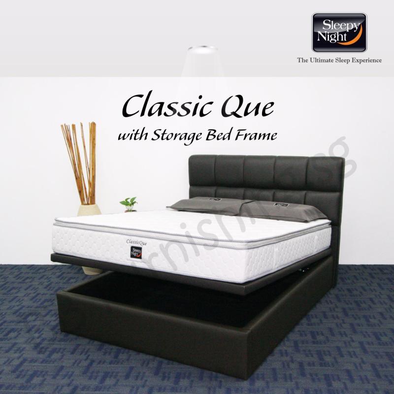 Sleepy Night (Queen) Classic Que Mattress with Jean Storage Bedframe