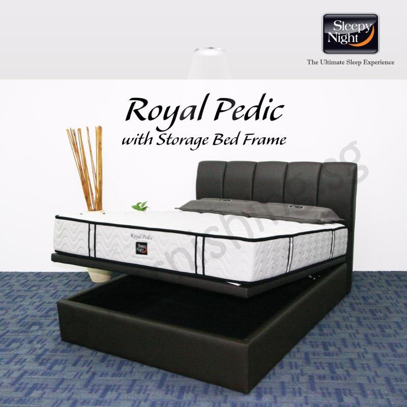 Sleepy Night (Queen) Royal Pedic Mattress with Jacinta Storage Bedframe