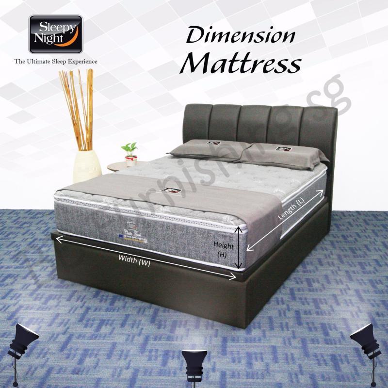 Sleepy Night (Single) Classic Mattress with Jacinta Storage Bedframe