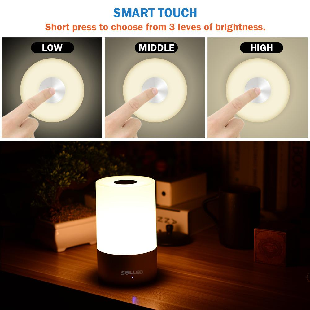 Solled rechargeable led bedside lamp 256 color changing rgb solled rechargeable led bedside lamp 256 color changing rgb atmosphere light mood light desktable lamp mozeypictures Gallery