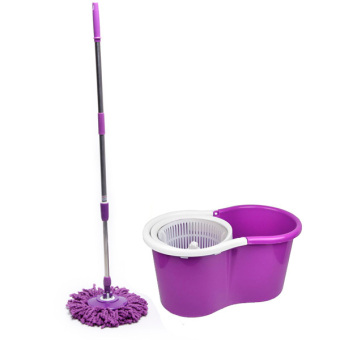 spin mop with 1 mop head purple set c