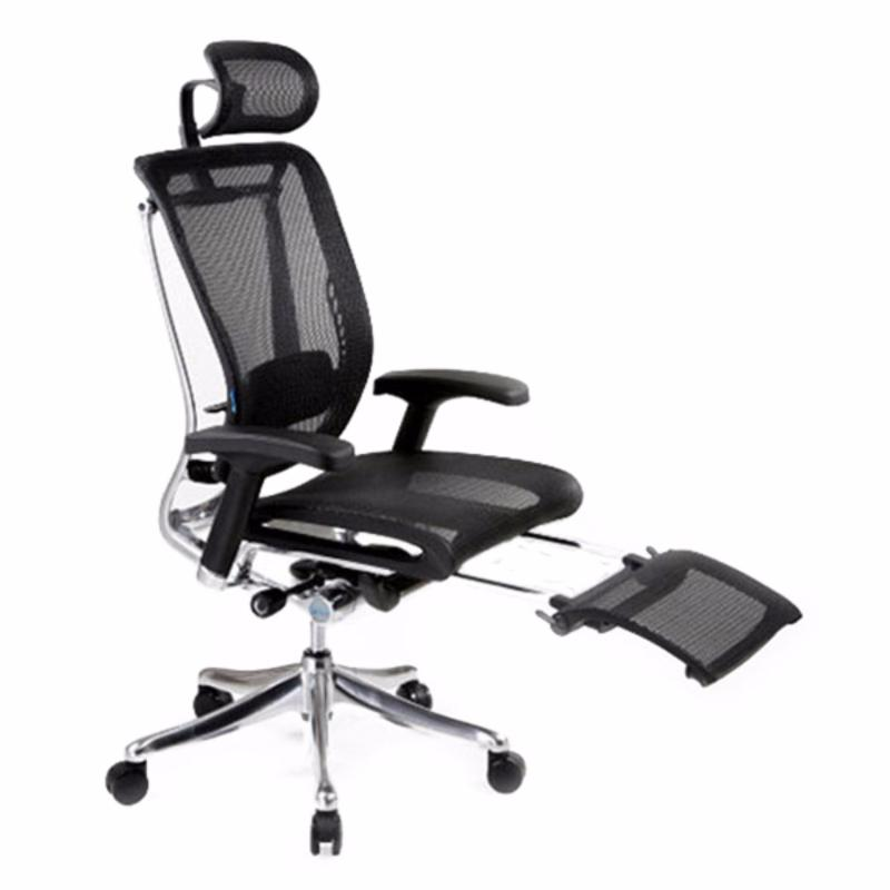 Spring Luxury Office Chair With Legrest (Black)(Installation Option Available) Singapore
