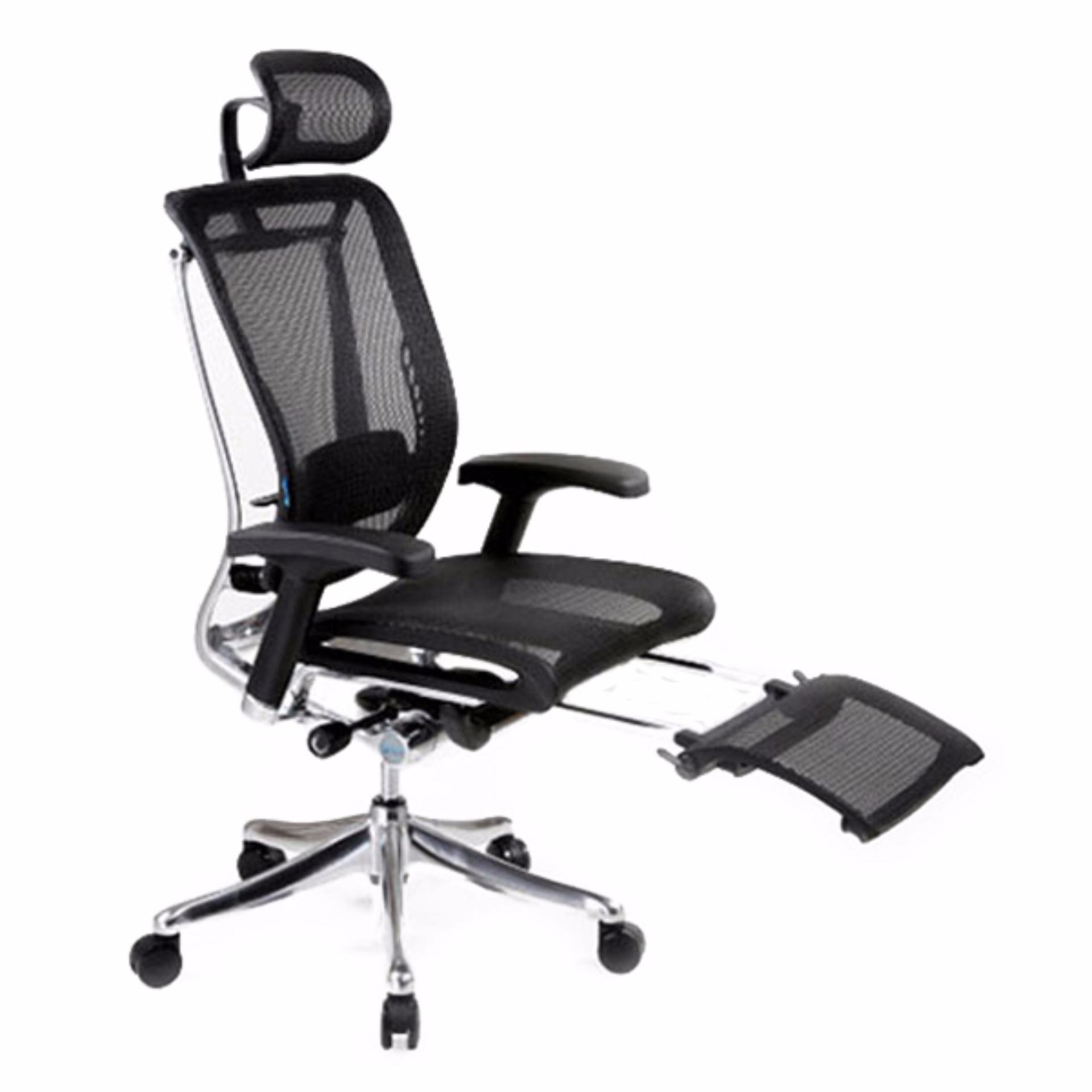 white luxury office chair. Spring Luxury Office Chair With Legrest (Black)(Installation Option Available) Singapore White