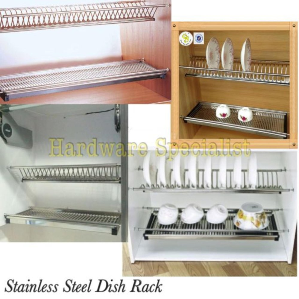 Stainless Steel 760mm Kitchen Cabinet Dish Rack (Side Mounting ...