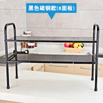 Stainless steel can be retractable under the sink kitchen shelf shelving rack